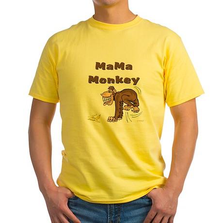 MaMa Monkey Yellow T-Shirt