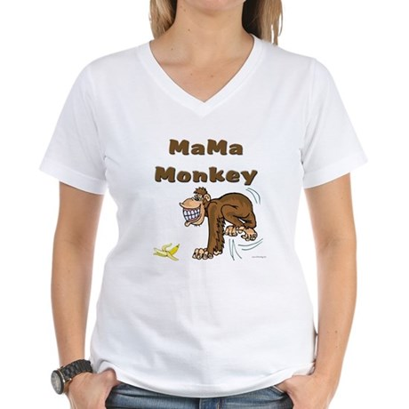 MaMa Monkey Women's V-Neck T-Shirt