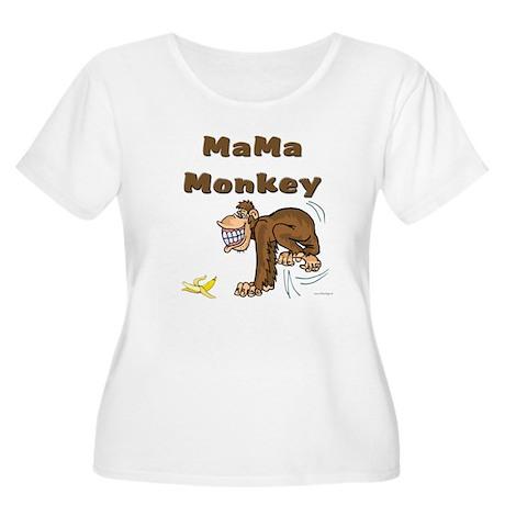 MaMa Monkey Women's Plus Size Scoop Neck T-Shirt