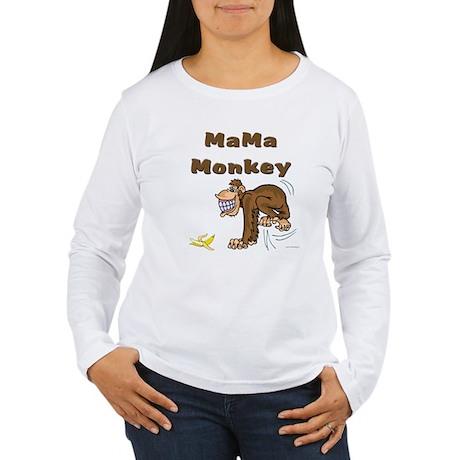 MaMa Monkey Women's Long Sleeve T-Shirt
