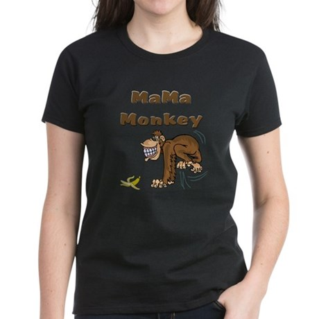 MaMa Monkey Women's Dark T-Shirt
