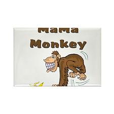 MaMa Monkey Rectangle Magnet