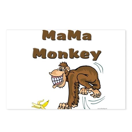 MaMa Monkey Postcards (Package of 8)