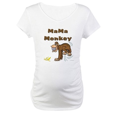 MaMa Monkey Maternity T-Shirt