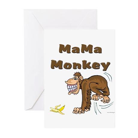 MaMa Monkey Greeting Cards (Pk of 20)