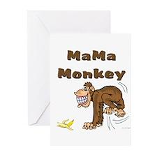 MaMa Monkey Greeting Cards (Pk of 10)