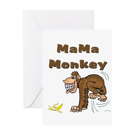MaMa Monkey Greeting Card