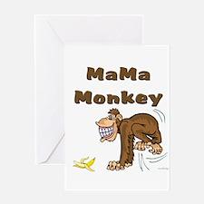 MaMa Monkey Greeting Card