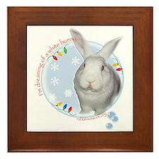 Cute Rabbit christmas Framed Tile
