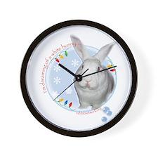 Cool White rabbit Wall Clock