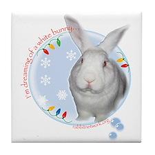 Unique House rabbits Tile Coaster