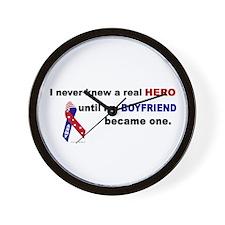 Never Knew A Hero.....Boyfriend (ARMY) Wall Clock