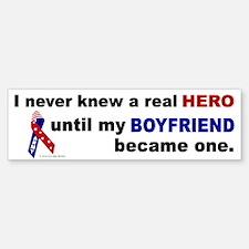 Never Knew A Hero.....Boyfriend (ARMY) Bumper Bumper Sticker