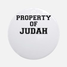 Property of JUDAH Round Ornament