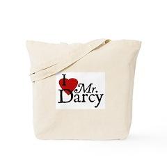 Jane Austen Heart Darcy Tote Bag