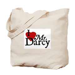 Jane Austen Heart Darcy Tote Bag