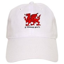 Y Ddraig Goch in Black and Red with Slogan Cap