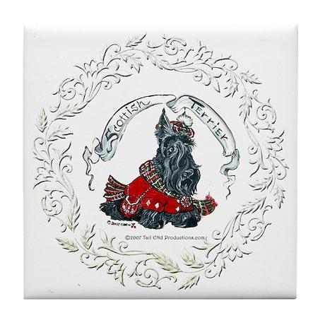 Scottish Terrier Celtic Dog Tile Coaster