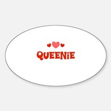 Queenie Oval Decal