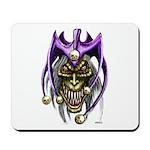 Punk Rock Evil Jester Skull Mousepad