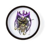 Punk Rock Evil Jester Skull Wall Clock