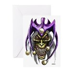 Punk Rock Evil Jester Skull Greeting Cards (6)
