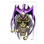 Punk Rock Evil Jester Skull Postcards (8)