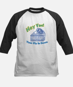 Your Fly Is Down Kids Baseball Jersey