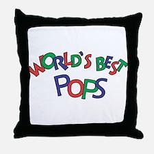 World's Best Pops Throw Pillow