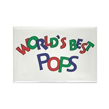 World's Best Pops Rectangle Magnet