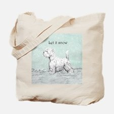 Westhighland Westie Winter Tote Bag