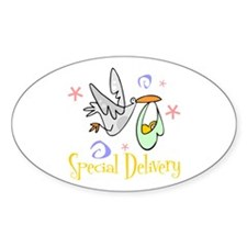 Special Delivery 2 Oval Decal