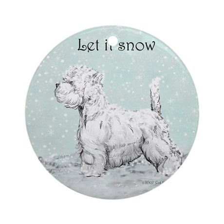 Westhighland Westie Winter Ornament (Round)