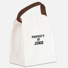 Property of JUNIE Canvas Lunch Bag