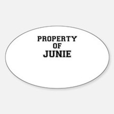 Property of JUNIE Decal
