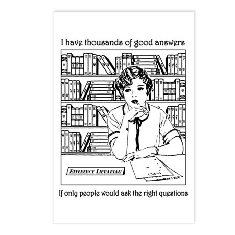 Reference Librarian Postcards (Package of 8)