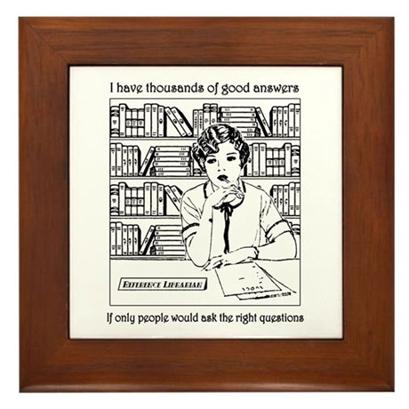 Reference Librarian Framed Tile