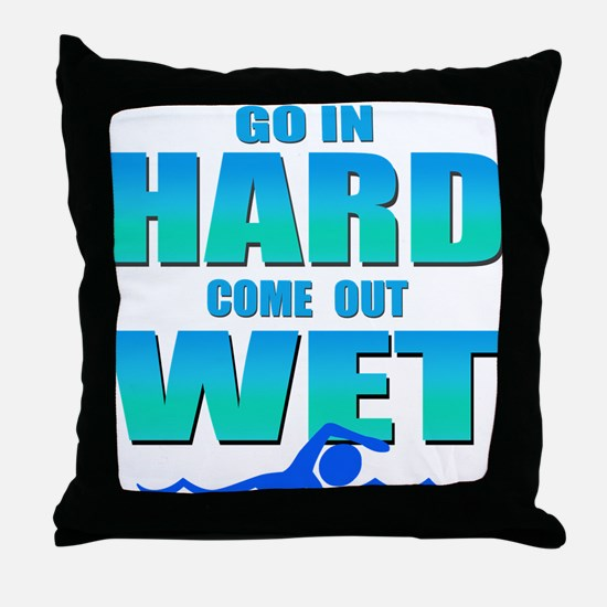 Go In Hard Throw Pillow
