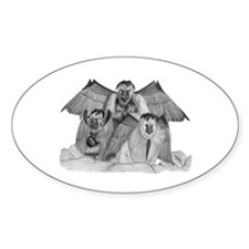 Flying Primates Oval Decal
