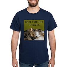 BFF Cats Snuggling T-Shirt