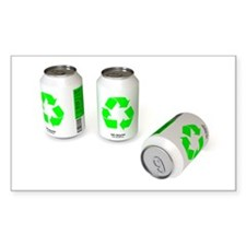 Recycling Rectangle Decal