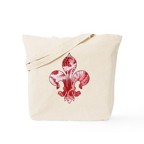 Fleur de lis Faux Lace 6 Tote Bag