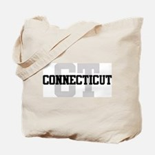 CT Connecticut Tote Bag