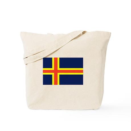 Aland Islands Country Flag Tote Bag