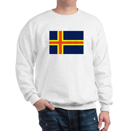 Aland Islands Country Flag Sweatshirt