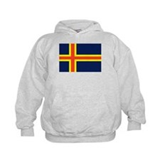 Aland Islands Country Flag Hoodie