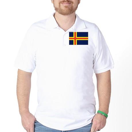 Aland Islands Country Flag Golf Shirt