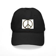 Black Gold Peace Symbol Baseball Hat