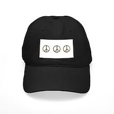 Triple Black Gold Peace Symbol Baseball Hat