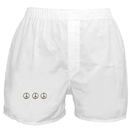Triple Black Gold Peace Symbol Boxer Shorts